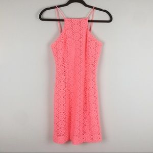 Lilly Pulitzer | Pink Knit Lace high neck Dress
